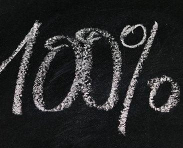 percentuale-cento-per-cento-scritta-su-lavagna